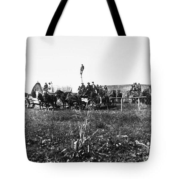 Civil War: Telegraph, 1864 Tote Bag by Granger