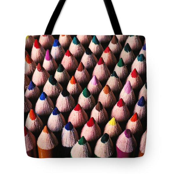 Colored Pencils Tote Bag by Garry Gay