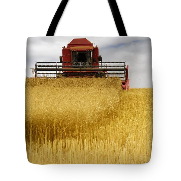 Combine Harvester, North Yorkshire Tote Bag by John Short