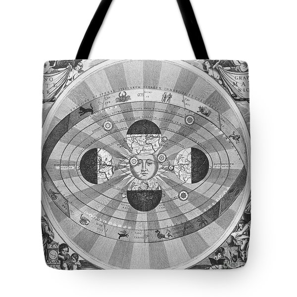 Copernican World System, 17th Century Tote Bag by Science Source