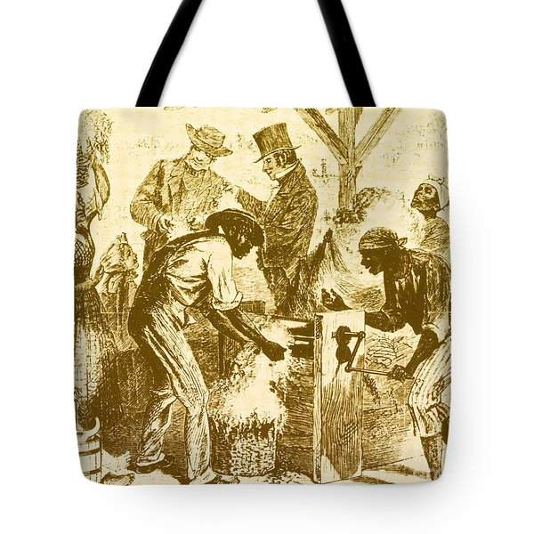 Cotton Gin, 19th Century Tote Bag by Science Source
