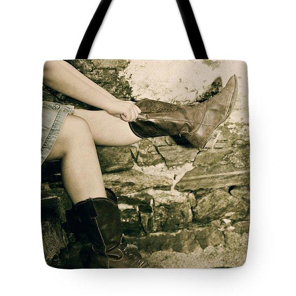 Cowboy Boots Tote Bag by Joana Kruse