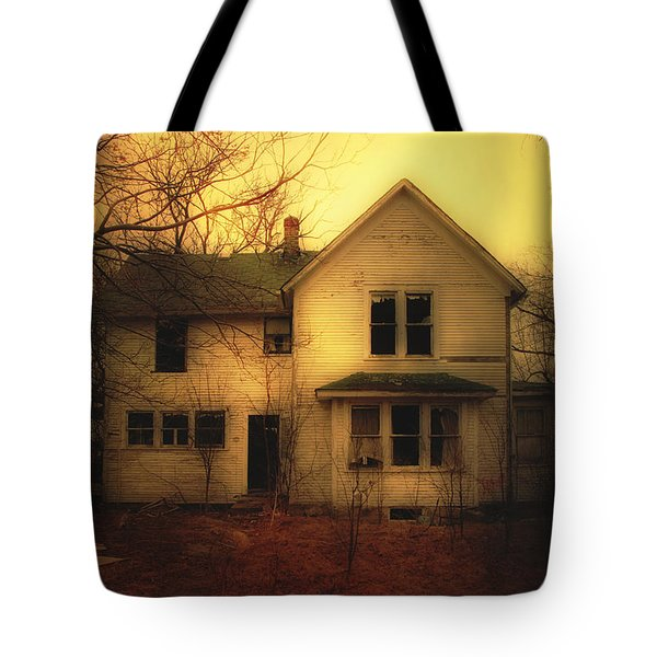 Creepy Abandoned House Tote Bag by Jill Battaglia