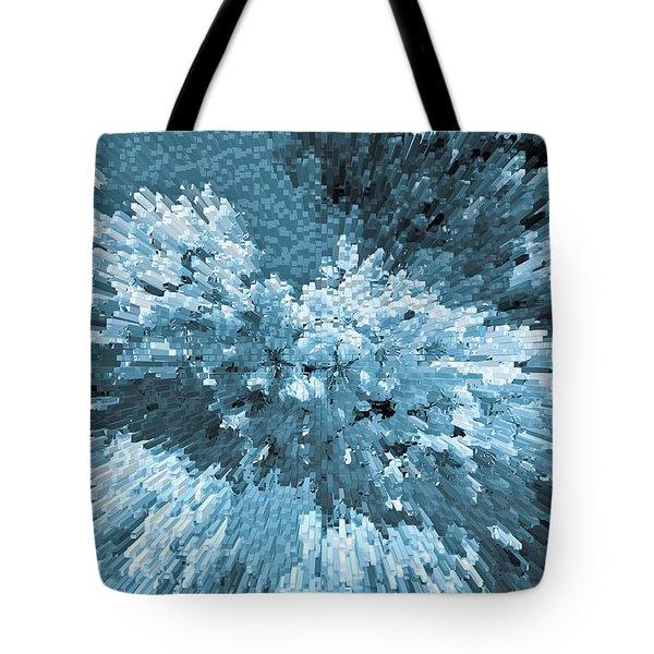 Crystal Flowers Tote Bag by David Pyatt