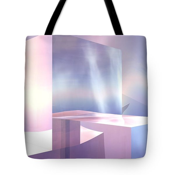 Tote Bag featuring the digital art Cubes by John Pangia