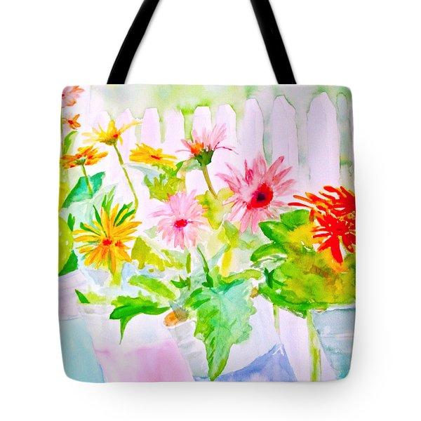 Daisy Daisy Tote Bag by Beth Saffer