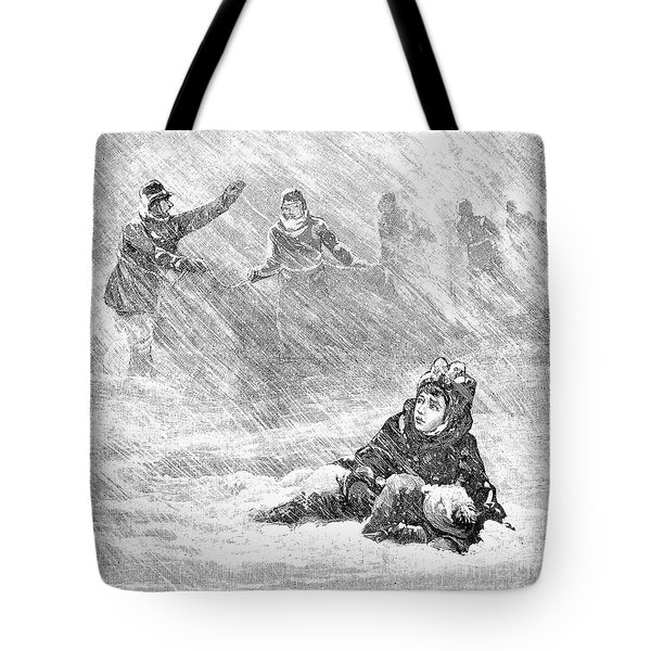 Dakota Blizzard, 1888 Tote Bag by Granger