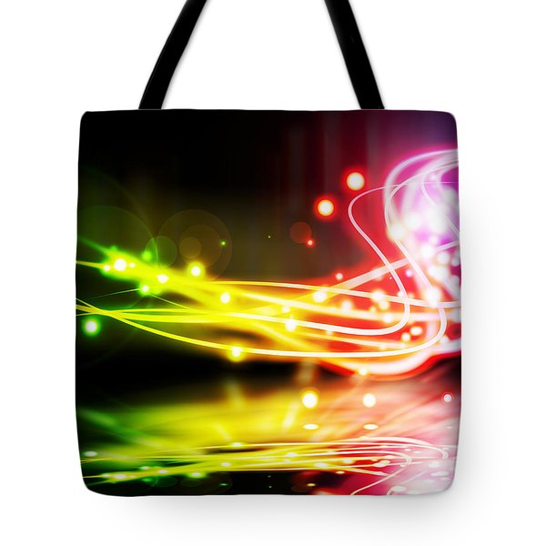 Dancing Lights Tote Bag by Setsiri Silapasuwanchai