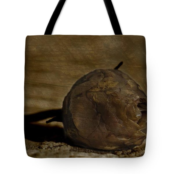 Tote Bag featuring the photograph Dead Rosebud by Steve Purnell