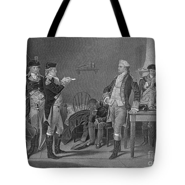 Death Warrant Of Major John Andre, 1780 Tote Bag by Photo Researchers