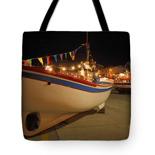 Decorated Fishing Boats Tote Bag by Gaspar Avila