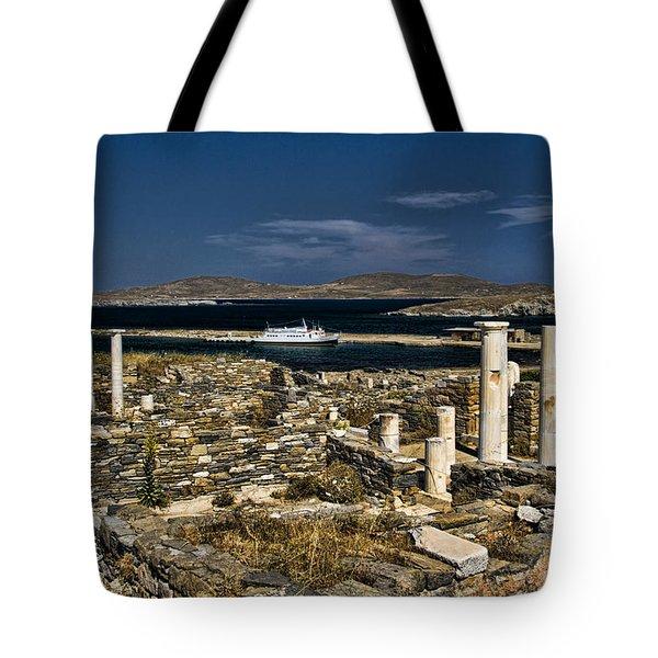 Delos Island Tote Bag by David Smith