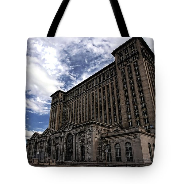 Detroit's Abandoned Michigan Central Station Tote Bag by Gordon Dean II