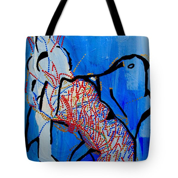 Dinka Corset - Manlual - South Sudan Tote Bag by Gloria Ssali