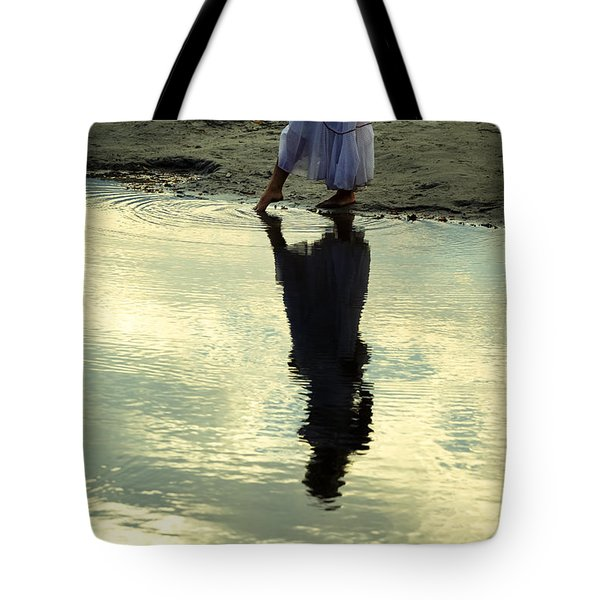 Dipping The Foot Tote Bag by Joana Kruse