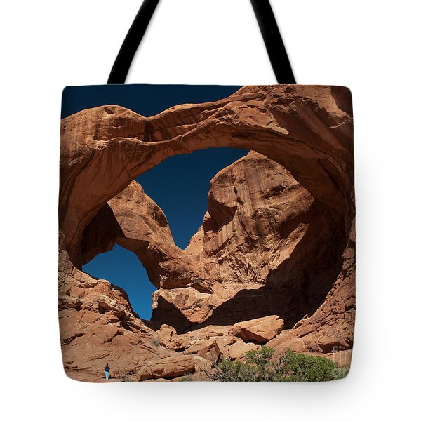 Tote Bag featuring the photograph Double Arch by Bob and Nancy Kendrick