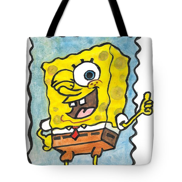Draw A Sponge Tote Bag