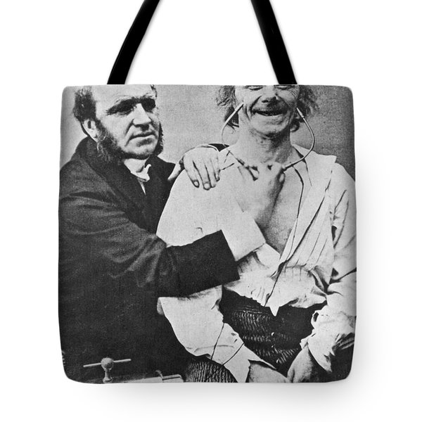 Duchenne Studying Physiognomy Tote Bag by Science Source
