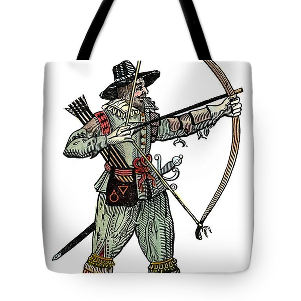 English Archer, 1634 Tote Bag by Granger