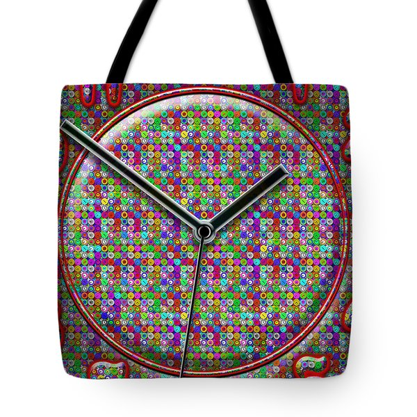 Faces Of Time 2 Tote Bag by Mike McGlothlen