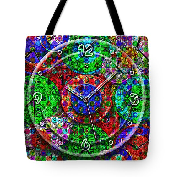 Faces Of Time 3 Tote Bag by Mike McGlothlen