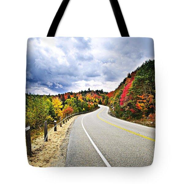 Fall Highway Tote Bag by Elena Elisseeva