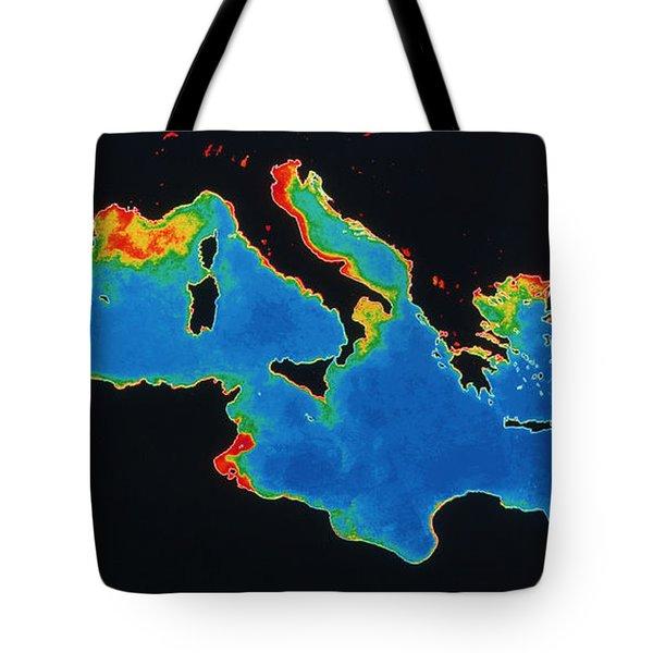 False-col Satellite Image Tote Bag by Dr. Gene Feldman, NASA Goddard Space Flight Center