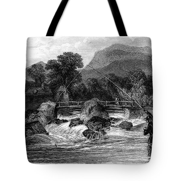 Fishing, 19th Century Tote Bag by Granger
