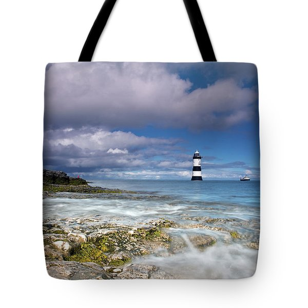 Tote Bag featuring the photograph Fishing By The Lighthouse by Beverly Cash