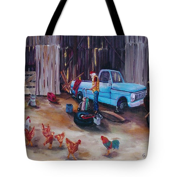 Flat Tire Tote Bag
