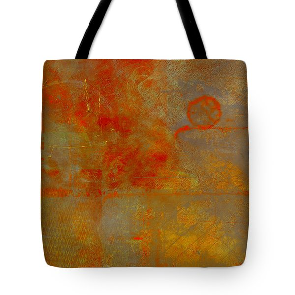 Fluorescent Rust Tote Bag by Christopher Gaston