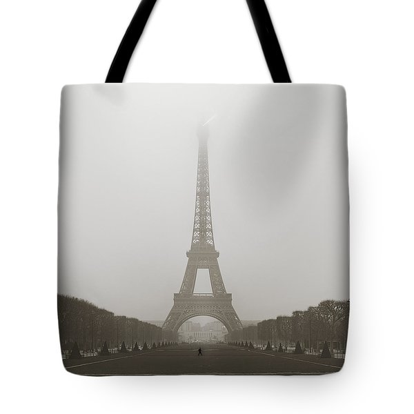 Foggy Morning In Paris Tote Bag