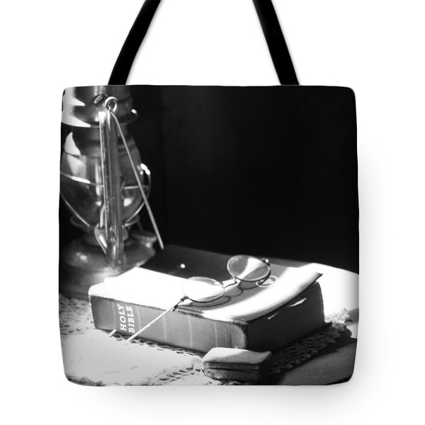 Follow The Light Tote Bag by Empty Wall