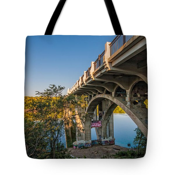 Tote Bag featuring the photograph Ford Parkway Bridge by Tom Gort