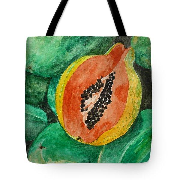 Fresh Papaya For Sale Tote Bag by Estephy Sabin Figueroa