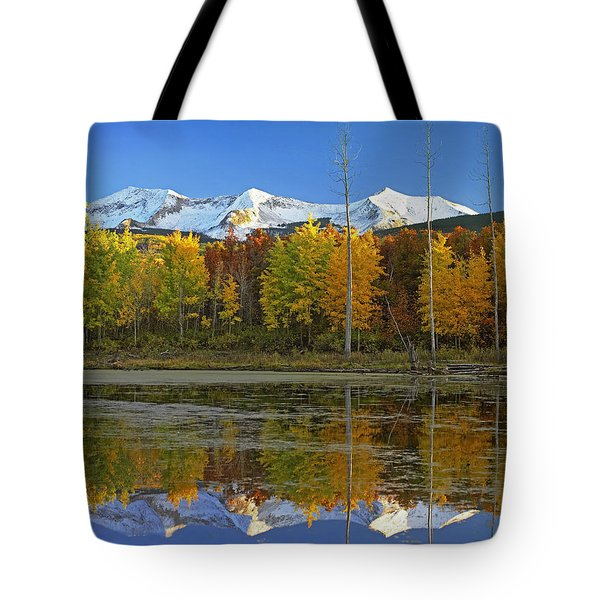 Full Moon Over East Beckwith Mountain Tote Bag by Tim Fitzharris