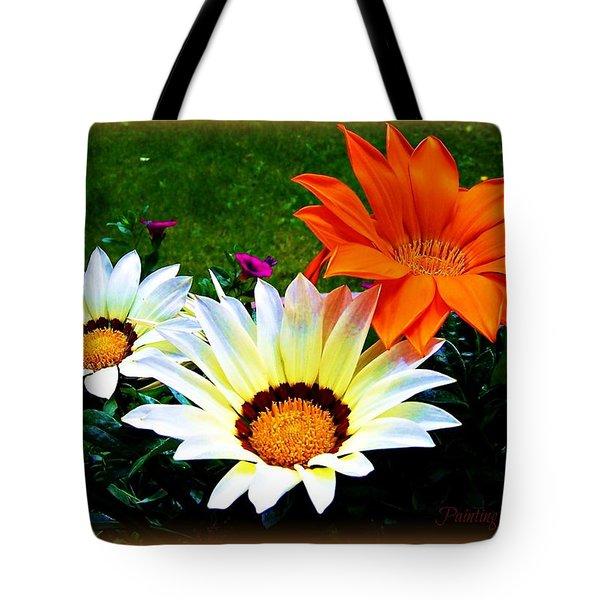 Garden Daisies Tote Bag