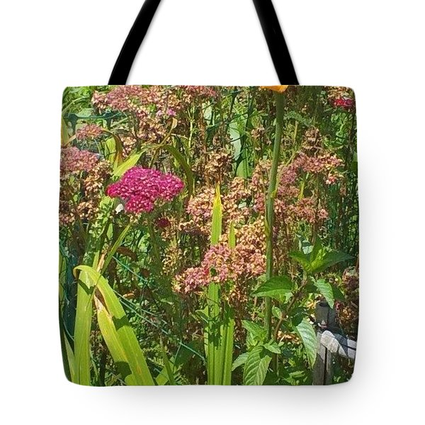 Garden Flowers  Tote Bag by Thelma Harcum