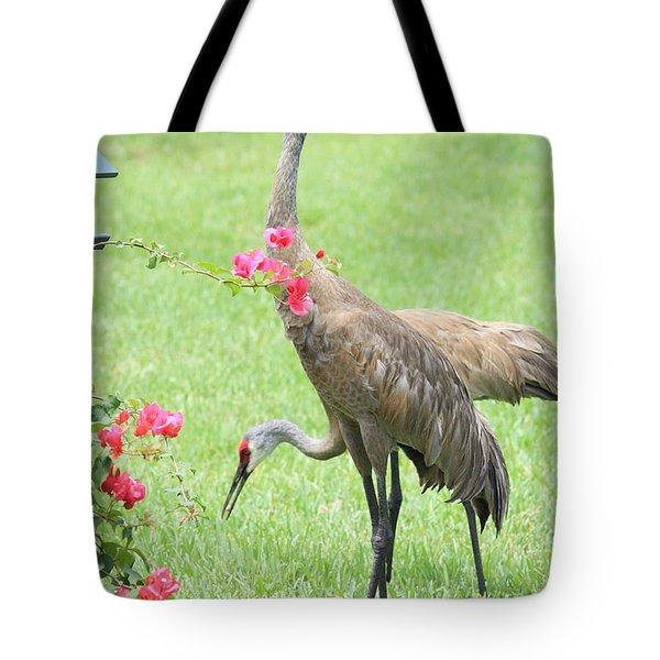 Garden Visitors Tote Bag by Carol Groenen