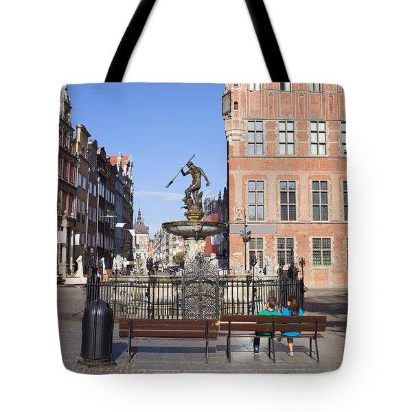 Gdansk Old Town Tote Bag by Artur Bogacki