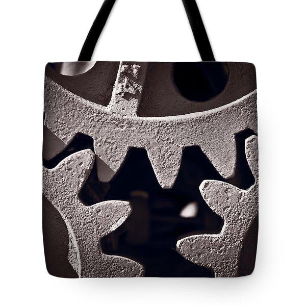Gears Number 2 Tote Bag by Steve Gadomski