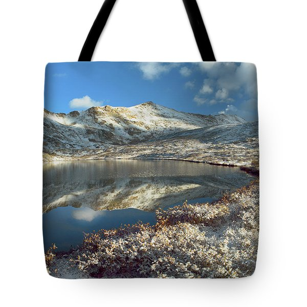 Geissler Mountain And Linkins Lake Tote Bag by Tim Fitzharris