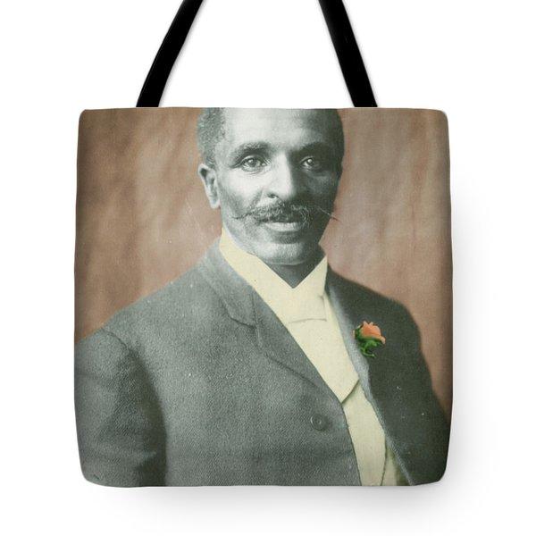 George W. Carver, African-american Tote Bag by Science Source
