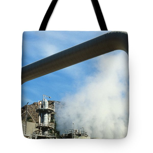 Geothermal Power Plant Tote Bag by Science Source