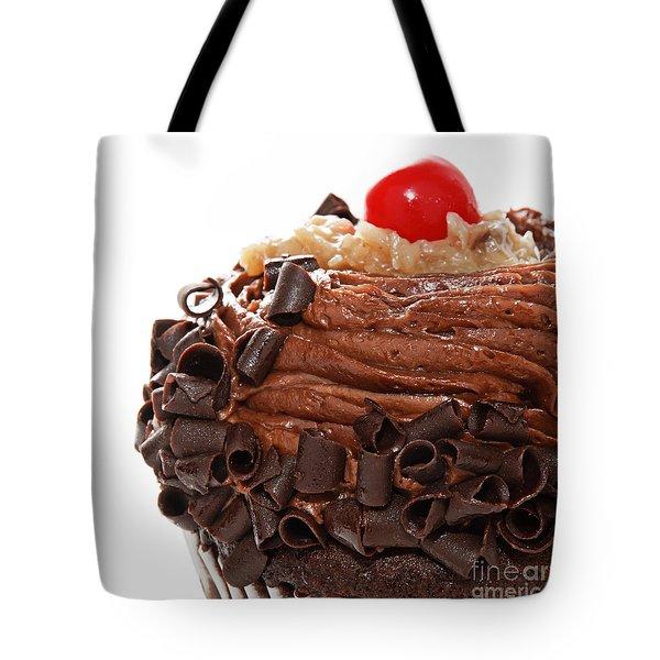 German Chocolate Cupcake 3 Tote Bag by Andee Design