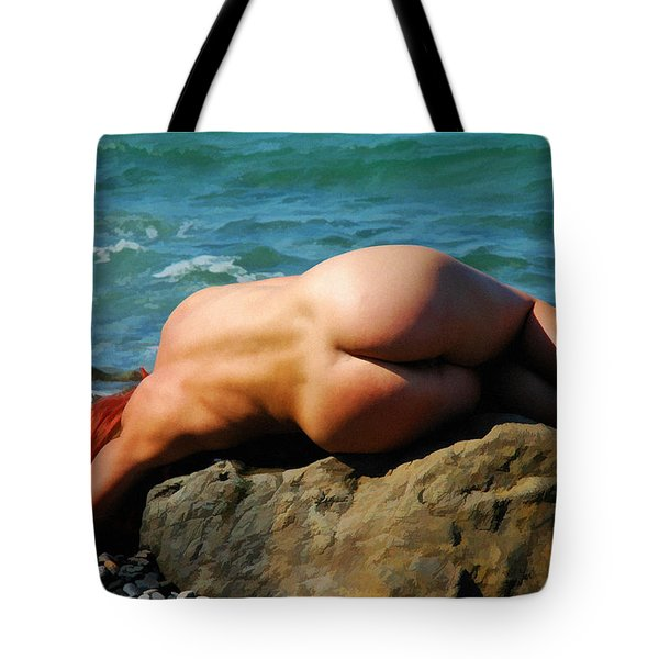 Girl With Red Hair Tote Bag