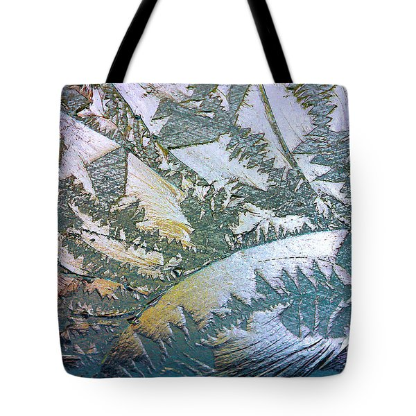 Tote Bag featuring the photograph Glass Designs by Todd Blanchard