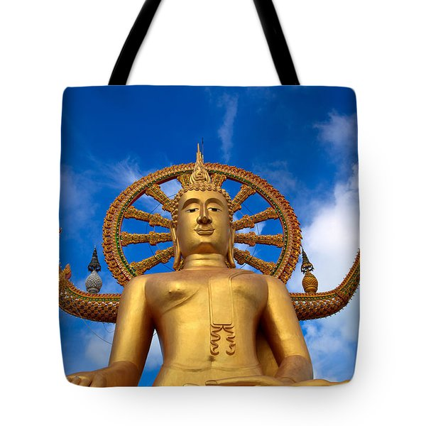Golden Buddha Tote Bag by Adrian Evans