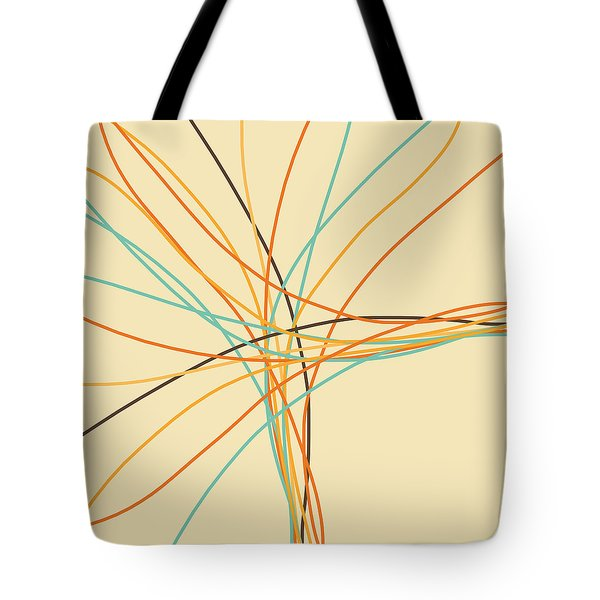Graphic Line Pattern Tote Bag by Setsiri Silapasuwanchai