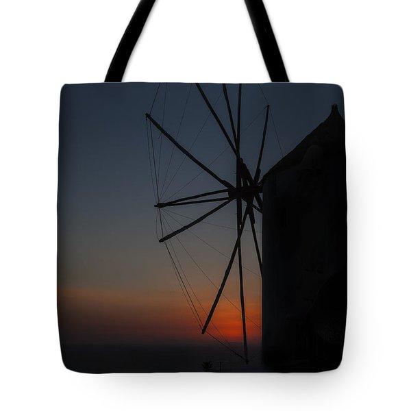 Greek Windmill Tote Bag